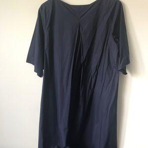 COS Dresses - COS Cotton Shift Navy Dress